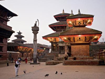 Morning Worship, Durbar Square, Unesco World Heritage Site, Patan, Kathmandu, Nepal by Don Smith