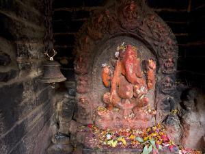 Shrine to the Hindu Elephant Headed God, Ganesh by Don Smith