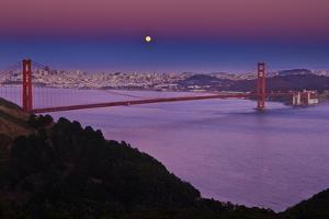 Solstice Moon over San Francisco by Don Smith