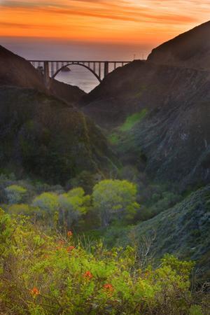 Usa, California, Big Sur, Bixby Bridge by Don Smith