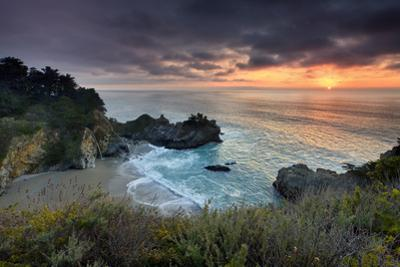 Winter Sunset Mcway Cove by Don Smith