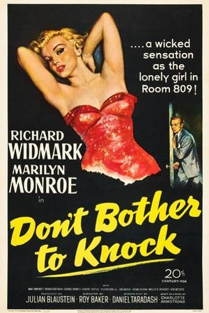 Don't Bother To Knock , Marilyn Monroe, Richard Widmark, 1952