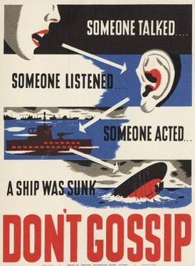 Don't Gossip Poster