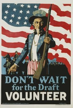 Don't Wait for the Draft, Volunteer Recruitment Poster