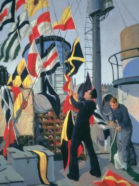 Signal Flag Hoist, C.1945 by Donald C. Mackay