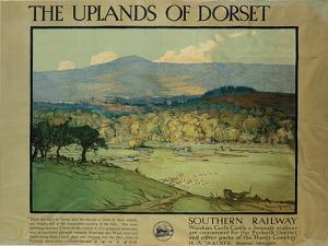 The Uplands of Dorsetm C.1924 by Donald Maxwell