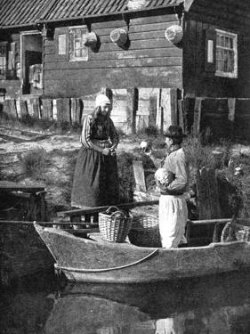 Greengrocer Bringing Goods by Boat, Marken, Holland, 1936 by Donald Mcleish