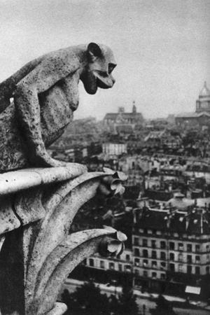 Stone Demon, Notre Dame, Paris, France, C1930S by Donald Mcleish