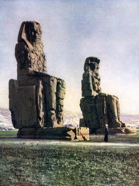 The Colossi of Memnon, Thebes, Egypt, 1933-1934 by Donald Mcleish