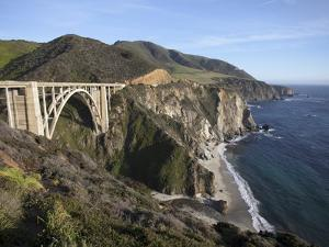 Bixby Bridge, Along Highway 1 North of Big Sur, California, United States of America, North America by Donald Nausbaum