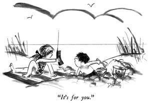 """""""It's for you."""" - New Yorker Cartoon by Donald Reilly"""