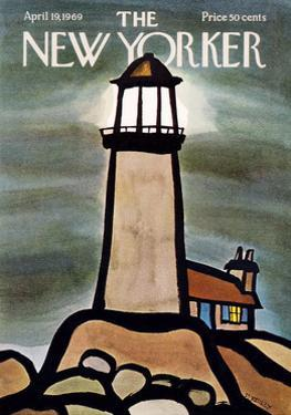 The New Yorker Cover - April 19, 1969 by Donald Reilly