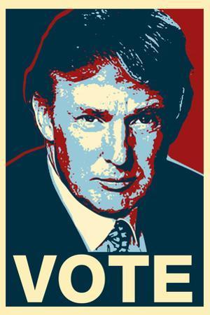 Donald Trump Vote Art Poster Print