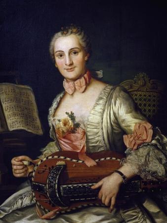Lady Playing Hurdy-Gurdy, 1741