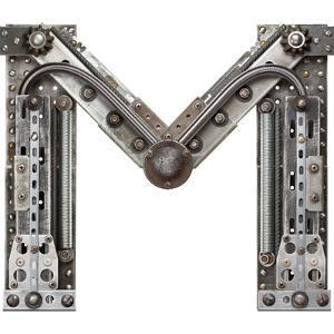 Industrial Metal Alphabet Letter M by donatas1205