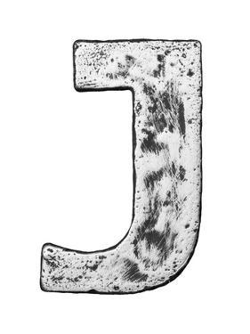 Metal Alloy Alphabet Letter J by donatas1205