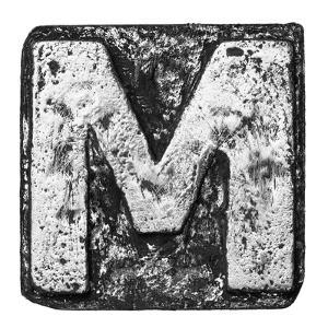 Metal Alloy Alphabet Letter M by donatas1205