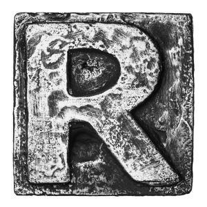 Metal Alloy Alphabet Letter R by donatas1205