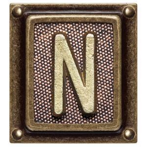 Metal Button Alphabet Letter N by donatas1205