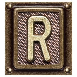 Metal Button Alphabet Letter R by donatas1205