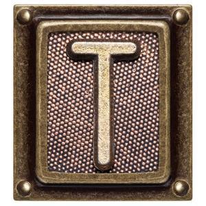 Metal Button Alphabet Letter T by donatas1205