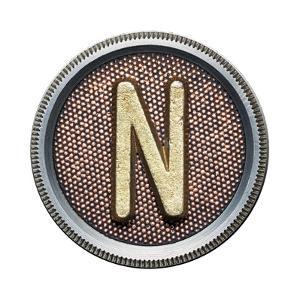 Metal Button Alphabet Letter by donatas1205