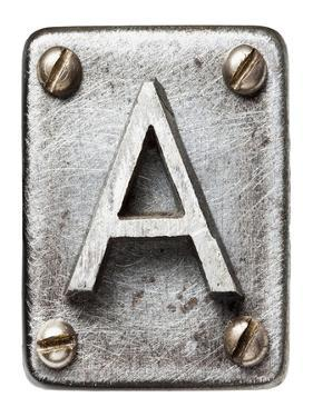 Old Metal Alphabet Letter A by donatas1205