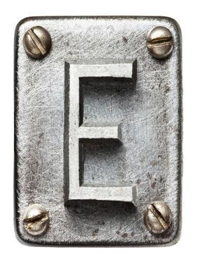 Old Metal Alphabet Letter E by donatas1205