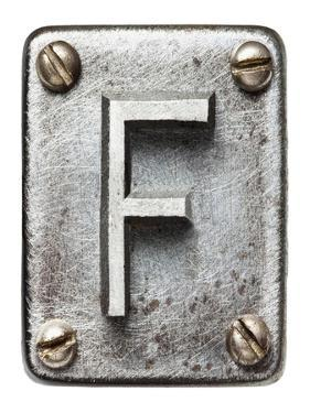 Old Metal Alphabet Letter F by donatas1205