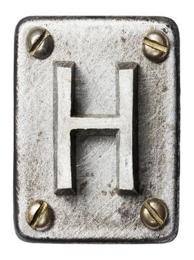 Old Metal Alphabet Letter H by donatas1205