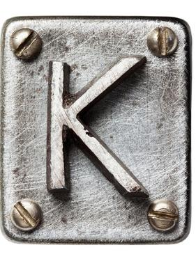 Old Metal Alphabet Letter K by donatas1205