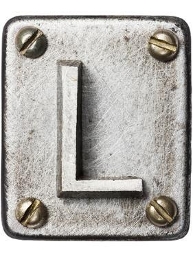 Old Metal Alphabet Letter L by donatas1205