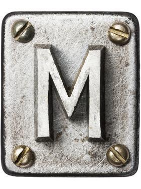 Old Metal Alphabet Letter M by donatas1205