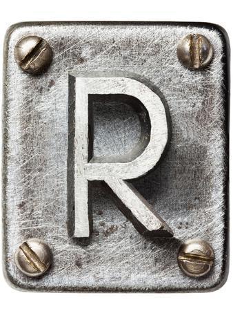 Old Metal Alphabet Letter R