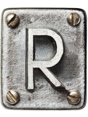 Old Metal Alphabet Letter R by donatas1205