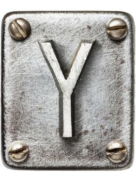 Old Metal Alphabet Letter Y by donatas1205