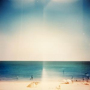 Retro Medium Format Photo. Sunny Day on the Beach. Grain, Blur Added as Vintage Effect. by donatas1205
