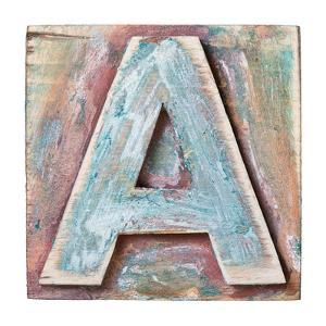 Wooden Alphabet Block, Letter A by donatas1205