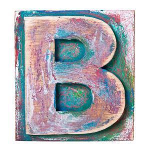 Wooden Alphabet Block, Letter B by donatas1205