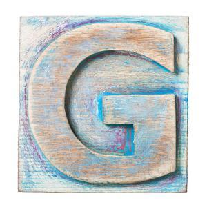 Wooden Alphabet Block, Letter G by donatas1205