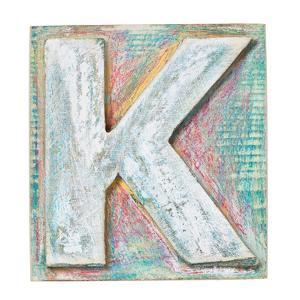 Wooden Alphabet Block, Letter K by donatas1205