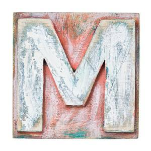 Wooden Alphabet Block, Letter M by donatas1205