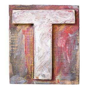 Wooden Alphabet Block, Letter T by donatas1205