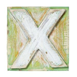 Wooden Alphabet Block, Letter X by donatas1205