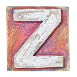Wooden Alphabet Block, Letter Z by donatas1205