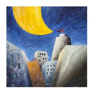 Sotto una grande luna gialla by Donato Larotonda