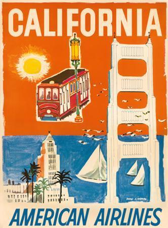 California - San Francisco Cable Car, Golden Gate Bridge - American Airlines