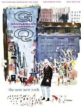 GQ Cover - November 1966 by Dong Kingman