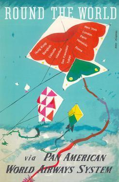 Round the World - Kites - via Pan American World Airways by Dong Kingman