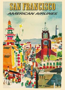 San Francisco - American Airlines by Dong Kingman